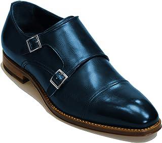 Handmade Italian Men's Dress Shoes. Double-Buckle Monk. Bespoke. Cagli