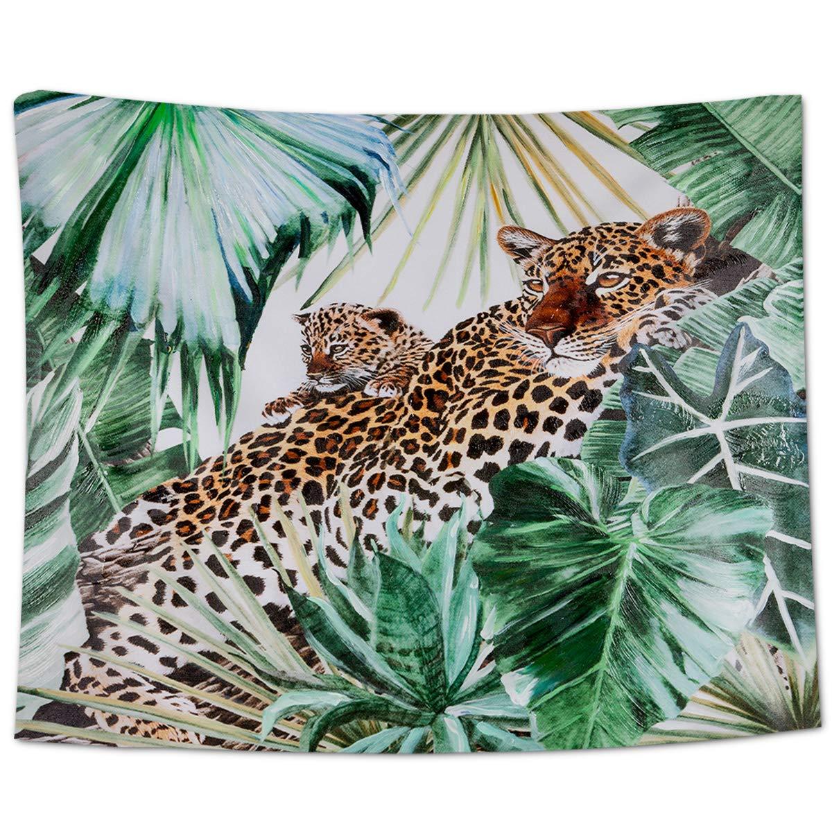 Africain Jungle Tropicale Animaux mur tapisserie picnic plage Drap Couvre-lit décor