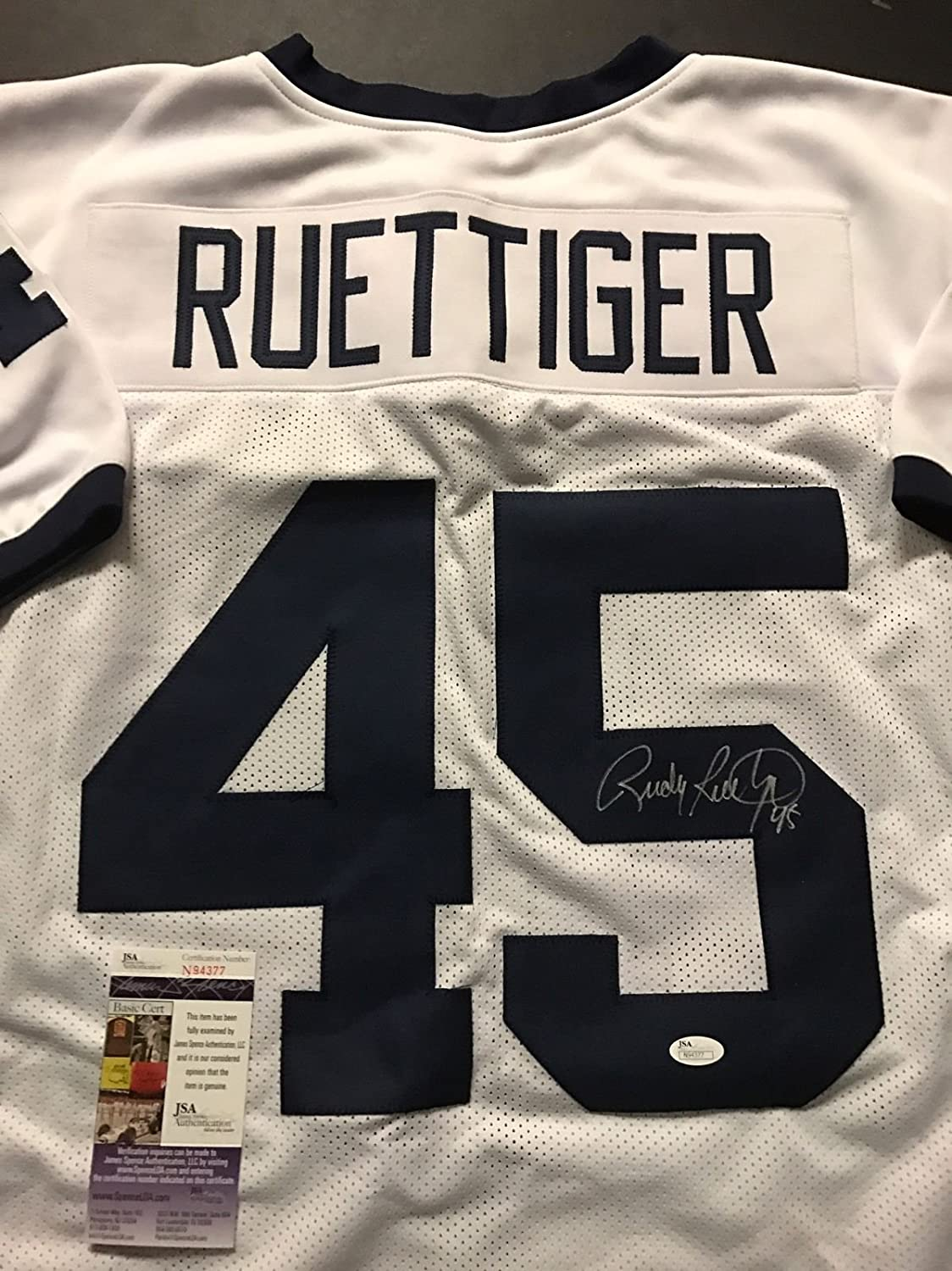 Autographed Wholesale Signed Branded goods Rudy Ruettiger Notre Dame Footb White College