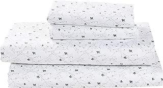 Stone & Beam Remy 100% Cotton Sateen Bed Sheet Set, Queen, Cloud