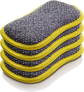 E-Cloth Microfiber Dual Purpose Washing Up Pad, Yellow, 4 Count
