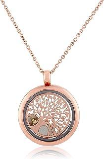 MESTIGE Women Crystal Holy Tree of Life Trinity Floating Charm Necklace with Swarovski Crystals