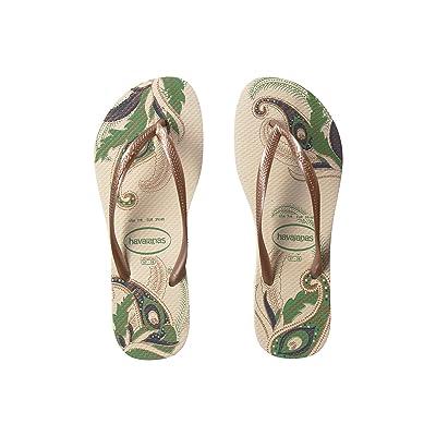 Havaianas Slim Organic Flip Flops (Beige) Women