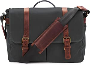 ONA - The Brixton - Camera Messenger Bag - Black Waxed Canvas (ONA5-013BL)