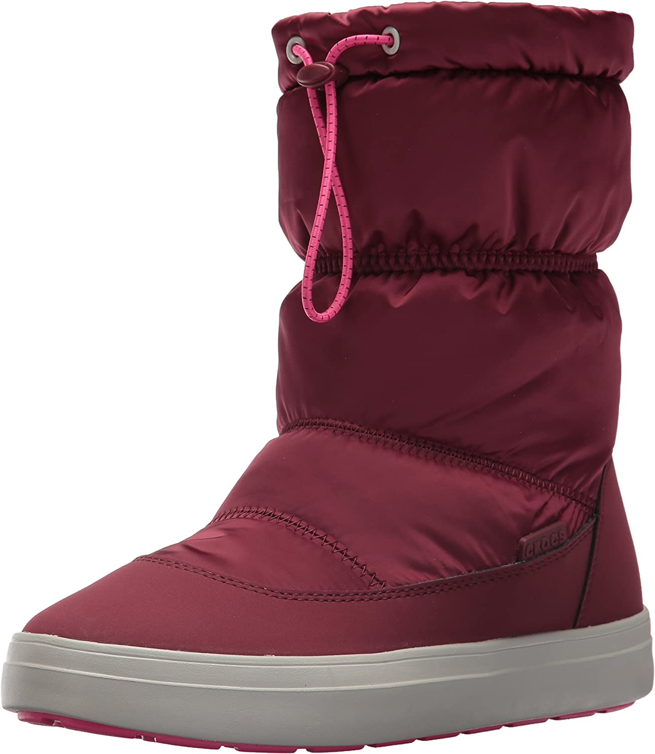 Crocs Women's LodgePoint Shiny Pull-on W Snow Boot, 4 us