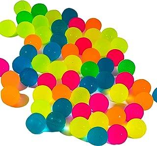 100 Small Rubber Bouncy Balls, for kids Party Favor Prizes Bulk Mini Super Balls