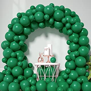 Honinda Green Latex Balloons 12inch + 5inch 70 Pack Dark Green Party Balloons Helium Balloons for Jungle Safari Birthday P...
