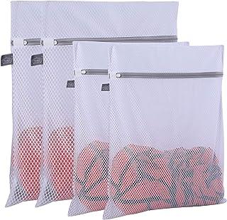 Extra großer, strapazierfähiger Netz-Wäschesack-4er-Pack (2 XL + 2 L) 125 g/m²..