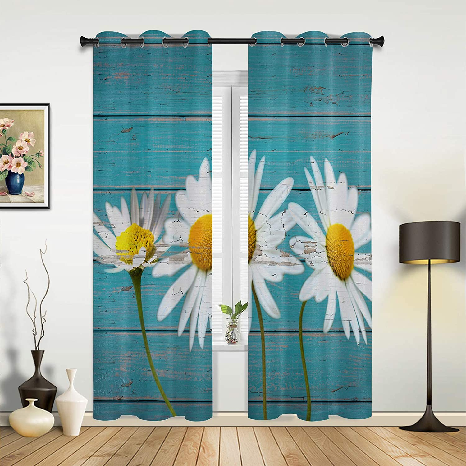 Window Selling and selling Sheer Curtains for Bedroom Fresh Daisy Room Recommended Living Flower