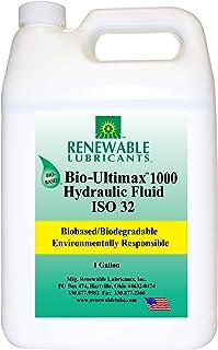 Renewable Lubricants Bio-Ultimax 1000 ISO 32 Hydraulic Lubricant, 1 Gallon Jug, Yellow, Model Number: 81003