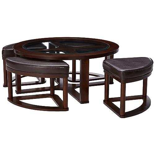 Coffee Table With Stools Amazon Com