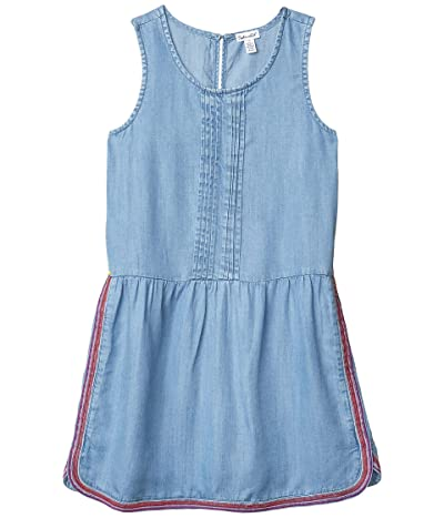 Splendid Littles Embroidered Chambray Dress (Big Kids) (Chambray) Girl