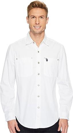 Long Sleeve Dobby Sport Shirt