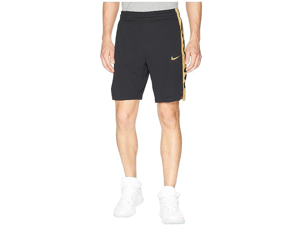 Nike Elite Stripe Basketball Short (Black/Black/Elemental Gold) Men