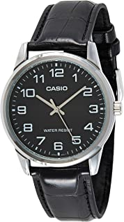 Casio Watch For Men Black Dial Leather Band - MTP-V001L-1BUDF