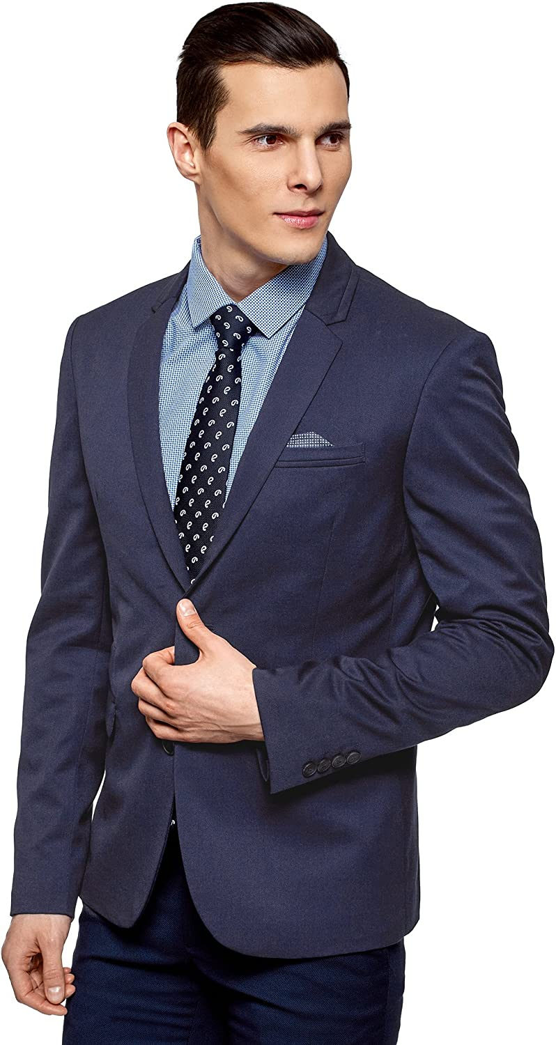 Abetteric Men Premium Formal Single Breasted Relaxed Fit Blazer Jacket
