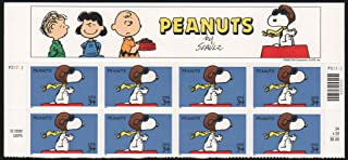 PEANUTS ~ SNOOPY ~ RED BARON #3507 Top Block of 8 x 34¢ US Postage Stamps