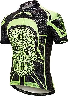 Men's Shorts Sleeve Cycling Jersey Tops Bike Clothing Biking Shirt 3 Pockets
