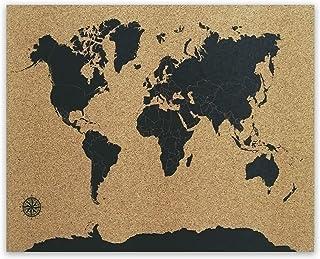 Mapa de Corcho | Mapamundi 58x45cm