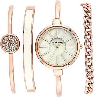 Women's Bangle Watch and Swarovski Crystal Bracelet Set,...