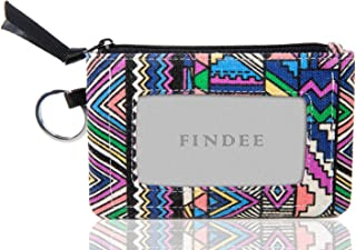 Iconic Zip ID Case Wallet/Coin Purse with Id Window - Signature Cotton (Geometric Pattern)
