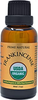 Sponsored Ad - Prime Natural Organic Frankincense Essential Oil 30ml / 1oz USDA Certified Boswellia Serrata Pure Undiluted...