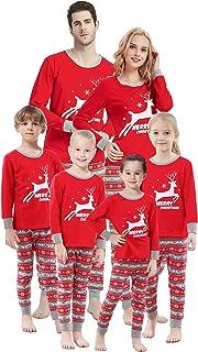 Matching Family Pajamas Christmas Santa Claus Sleepwear Cotton Kids PJs