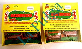 2 Packs - Hormigas Watermelon Flavor Mexican Candies Confited with Spicy Powder 24 pcs