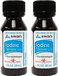 Swan Iodine Tincture U.S.P. - 1 fl oz (2 pack)