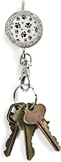 Alexx Finders Key Purse 01B-012 Paw Prints Bling Finders Key Purse