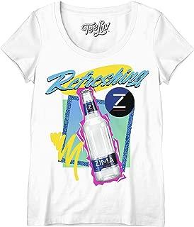 Zima T-Shirt for Women - Refreshing Zima Scoop Neck 90s Shirt
