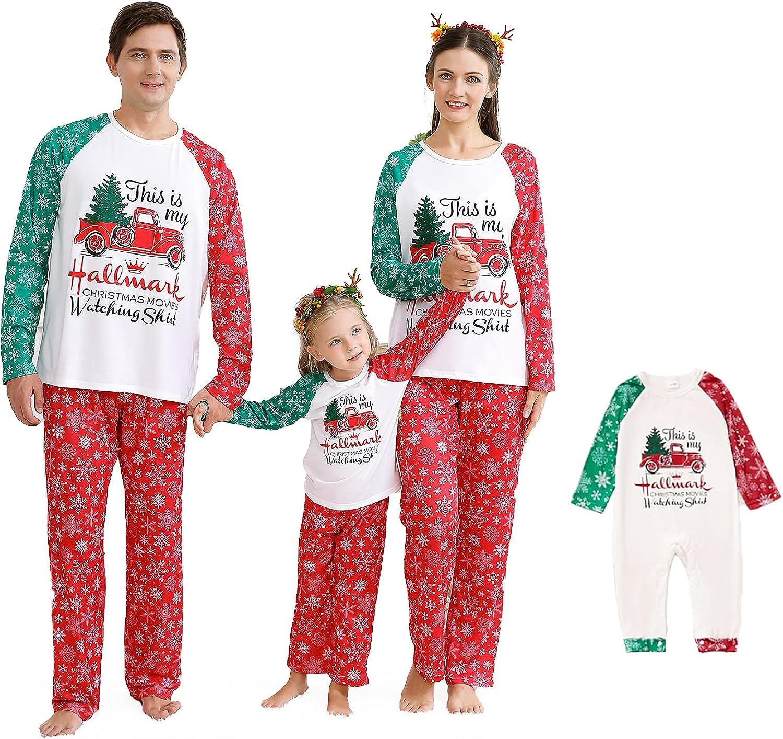 Family Pajamas Matching Set Christmas Jammies Long Sleeve Holiday Pjs Xmas Sleepwear Set