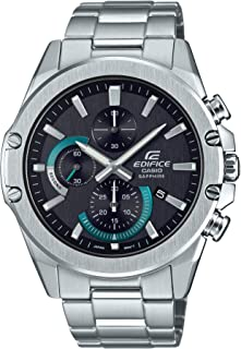 Casio Men's Edifice Quartz Stainless Steel Strap, Silver, 22 Casual Watch (Model: EFR-S567D-1AVCR)