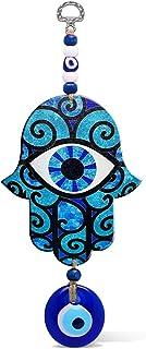 MYSTIC JEWELS - Hamsa de la Mano de Fatima en Madera con Ojo Turco para Buene Suerte y Energia en Casa (Color 8)