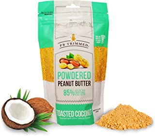 PB Trimmed TOASTED COCONUT All Natural & Kosher Premium Powdered Peanut Butter from Real Roasted Pressed Peanuts, Good Source of Protein - 6.5 oz Pouch. (Toasted Coconut, 6.5 oz)
