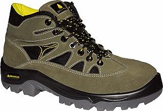 Delta Plus Chaussures–Chaussures montantes croûte velours Mesh semelle en polyuréthane 2d 46Vert/Noir