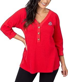 NCAA Womens UG Apparel Ohio State Buckeyes Button Down Tunic Red//Grey X-Large