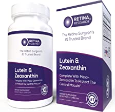 Lutein and Zeaxanthin Supplement - Eye Vitamins with Meso Zeaxanthin to Protect Central Macula - Optimal 5:1 Ratio for Mac...