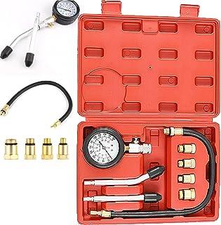 PowerTools Kompressionstester, Motor Kompressionsprüfer 0 20 bar oder 0 300 psi Kompressionsmesser Druck Prüfgerät Kompression prüfen meßen Meßgerät, für KFZ Motorrad Benzin Tester, mit Box