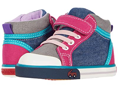 See Kai Run Kids Peyton (Toddler/Little Kid) (Blue/Gray) Girls Shoes