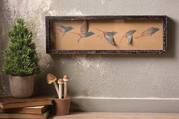 Kalalou Shadowbox Paper Flying Bird Wall D Cor One Size Brown