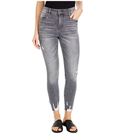 KUT from the Kloth Connie High-Rise Ankle Skinny with Raw Hem in Braver (Braver Wash) Women