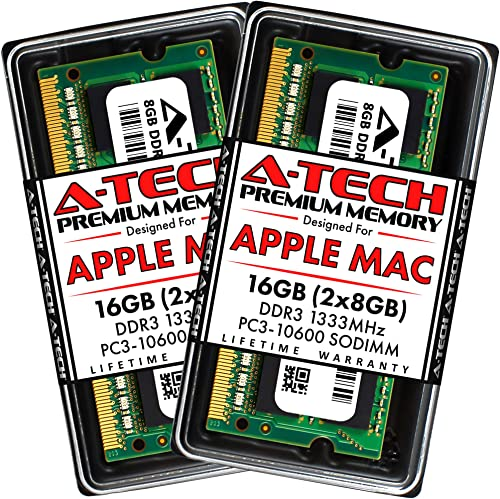 A-Tech for Apple 16GB Memory Ram Kit 2x 8GB PC3-10600 1333MHz Macbook Pro Early Late 2011 iMac Mid 2010 Mid 2011 Late...