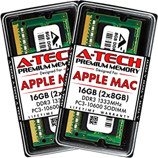 A-Tech for Apple 16GB Memory Ram Kit 2x 8GB PC3-10600 1333MHz Macbook Pro Early Late 2011 iMac Mid 2010 Mid 2011 Late 2011...
