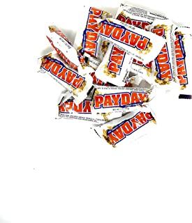 Payday Valentines Chocolate Peanut Caramel Candy Bars 0.7 Oz. Snack Size 3 Pound Candy Bulk
