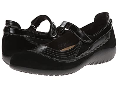 Naot Kirei (Black Suede Leather Combination) Women
