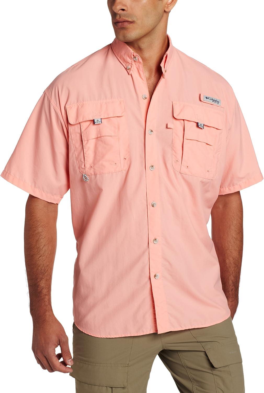 Columbia Herren Men's PFG Bahama Ii Short Sleeve Shirt Bluse Sorbet