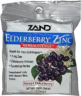 Zand, (6 Pack) Elderberry Zinc, Herbalozenge, Sweet Elderberry, 15 Lozenges
