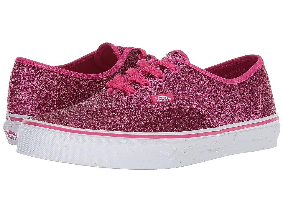 Vans Kids Authentic (Little Kid/Big Kid) ((Glitter) Rosy) Girls Shoes