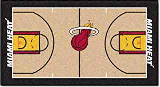 FANMATS  9314  NBA Miami Heat Nylon Face NBA Court Runner-Large